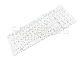 Клавиатура за Toshiba Satellite A500, A505, Qosmio X500, X300 - бяла