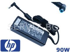 Оригинално зарядно за лаптоп HP - 90W - синя букса 4.5мм-3.0мм