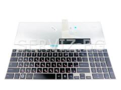 Клавиатура за Toshiba Satellite C855, L850, C850 - сива рамка