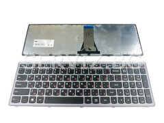 Клавиатура за лаптопи Lenovo Z510, G500S, G505S, S500 - сива рамка